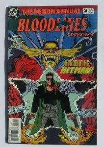 Demon Annual #2 Bloodlines VF+ 1st Appearance Hitman DC Comics 1st Print 1993