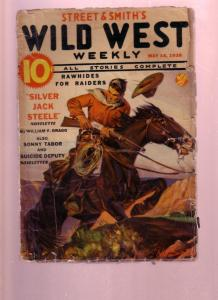 WILD WEST WEEKLY-MAY 14 1938-PULP-SONNY TABOR-WHISTLIN' FR/G