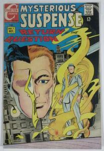MYSTERIOUS SUSPENSE Oct 1968 Ditko QUESTION G-VG COMICS BOOK