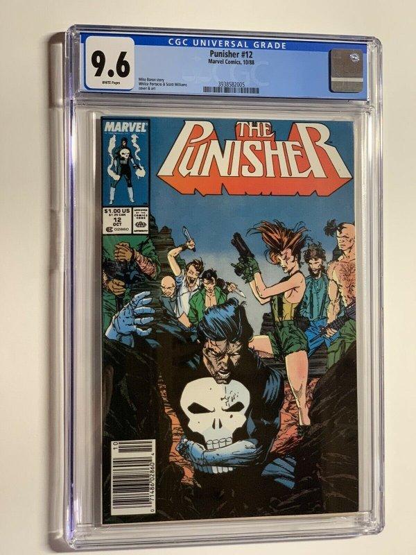 Punisher 12 cgc 9.6 marvel 1988