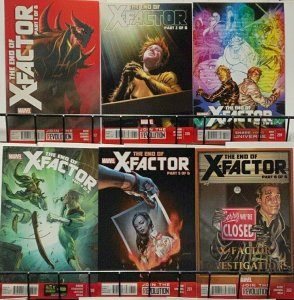 X-FACTOR (Marvel,2013) #257-262 The End of X-Factor parts 1-6 Complete! VF-NM
