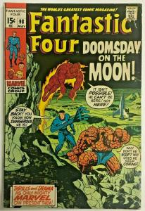 FANTASTIC FOUR#98 FN 1970 MARVEL BRONZE AGE COMICS