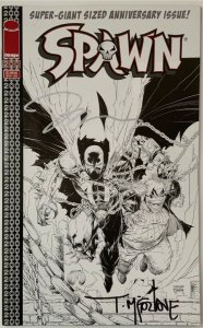 SPAWN #200 LEE SKETCH VARIANT COVER SIGNED BY TODD MCFARLANE WITH COA NEAR MINT.