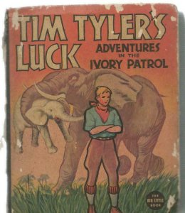 Tim Tyler's Luck Ivory Patrol ORIGINAL Vintage 1937 Whitman Big Little Book