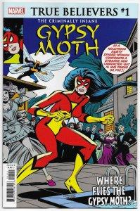 True Believers Criminally Insane #1 Rep Spider-Woman #10 | 1st Gypsy Moth (NM)
