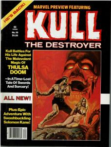 Marvel Preview #19 (1975 Magazine) Kull The Destroyer - VF/NM
