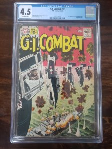 G.I. Combat 87 CGC 4.5 1st appearance of the Haunted Tank Russ Heath cover & art