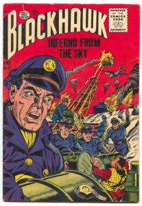Blackhawk Comics #87 1955- Inferno From the Sky VG+