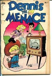 Dennis the Menace #7 1954-Standard-Hank Ketcham art-TV set cover-G