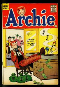 Archie Comics #109 1960- Classic Disc Jockey Payola cover- VG/FN