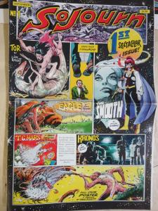 Sojourn Newspaper Size Magazine #1 feat. Joe Kubert Sergio Aragones Bissette