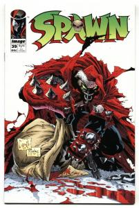 SPAWN #39-1995-Christmas cover-Image NM-