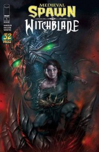 Medieval Spawn & Witchblade #1 NM, Lucio Parrillo Varian LOW PRINT!