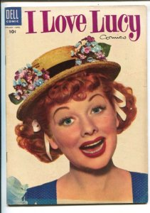 I Love Lucy #5 1955-Dell-Lucille Ball photo cover-based on her TV series-FN