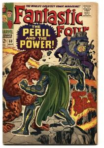 FANTASTIC FOUR #60 comic book 1967-DR DOOM-SILVER SURFER-KIRBY ART VG