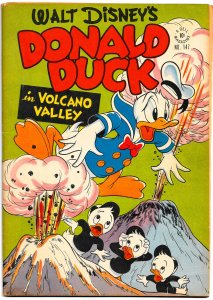 WALT DISNEY'S DONALD DUCK in VOLCANO VALLEY (4 Color #147)(1947)7.5 VF-  BARKS!