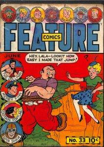 Feature Comics #33 Very Low Grade