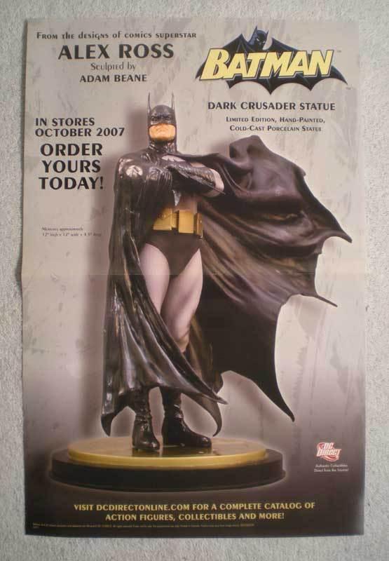 BATMAN DARK CRUSADER STATUE Promo Poster, 11x17 ,Unused, more Promos in store