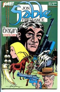 John Sable, Freelance #6 1984-First-Mike Grell signed splash page-origin-VF