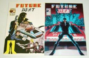 Future Beat #1-2 FN/VF complete series - oasis comics - cop/crime indy set 1986