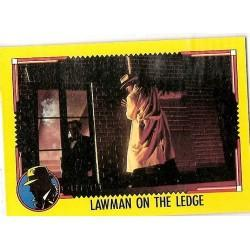 1990 Topps DICK TRACY-LAWMAN ON THE LEDGE #49