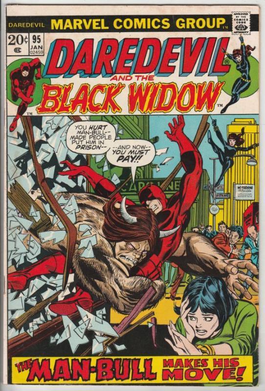 Daredevil #95 (Jan-73) FN/VF Mid-High-Grade Daredevil, Black Widow