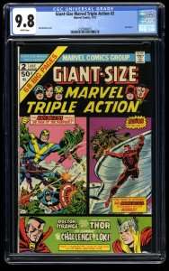 Giant-Size Marvel Triple Action #2 CGC NM/M 9.8 White Pages Highest Graded Copy!