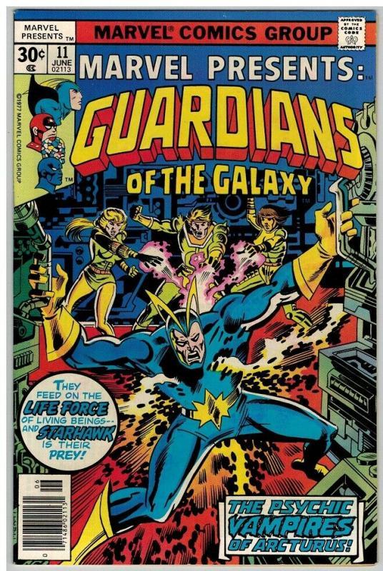 MARVEL PRESENTS 11 VF June 1977 Guardians COMICS BOOK