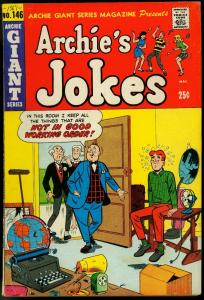 Archie Giant Series #146 1967- Archie Jokes Flying Saucer VG/F