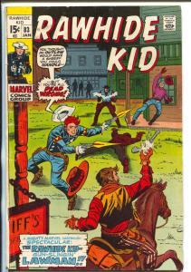 Rawhide Kid #83 1971-Marvel-Stan Lee-Larry Leiber-gunfight cover-VG