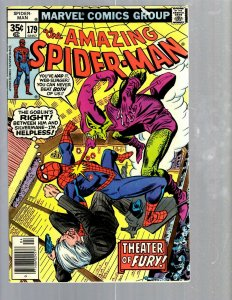 Amazing Spider-Man # 179 VF Marvel Comic Book MJ Vulture Goblin Scorpion TJ1