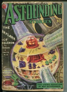 ASTOUNDING STORIES 09/1934-STREET & SMITH-SKYLARK OF VALERON-EE SMITH-fr/good