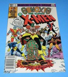 Obnoxio The Clown Vs X-Men #1 VF/NM Bronze Age Comic Book Wolverine Nightcrawler