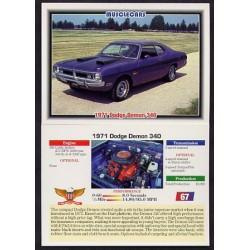 1992 Collect-A-Card Musclecars 1971 DODGE DEMON 340 #67