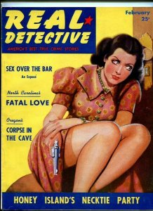 REAL DETECTIVE-FEB. 1940-SEX-FURNACE-ROBBERY-DEATH-PHANTOM-CORPSE-MYSTERY FN