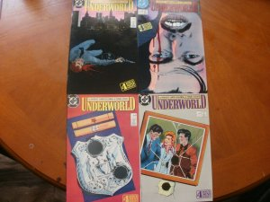 4 DC Comic Mini-Series: UNDERWORLD #1 #2 #3 #4 (1987) Crime (Fleming & Colon)