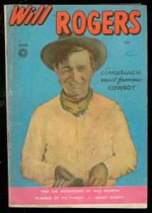 WILL ROGERS #5 1950-PHOTO COVER-WESTERN-FIRST ISSUE VG