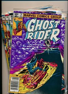 Marvel Comics LOT OF 5- GHOST RIDER #74-78 1982  FINE/VERY FINE (PF467)
