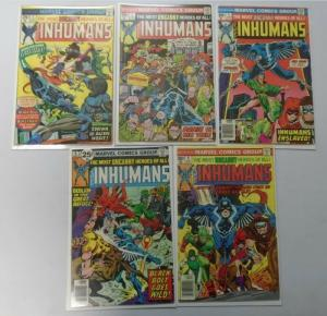 Inhumans lot 9 different books 1st Series average 4.0 VG (1975)