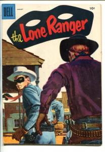 THE LONE RANGER #91-1956-DELL-TONTO-SCOUT-SILVER-SILVER BULLET-CANOE-vg