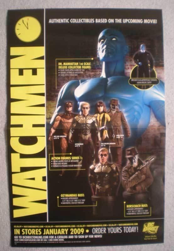 WATCHMEN (STATUES AND BUSTS) Promo Poster, Unused, more in our store