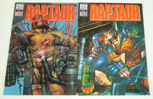 Raptaur #1-2 VF/NM complete series with judge dredd - fleetway/quality comics