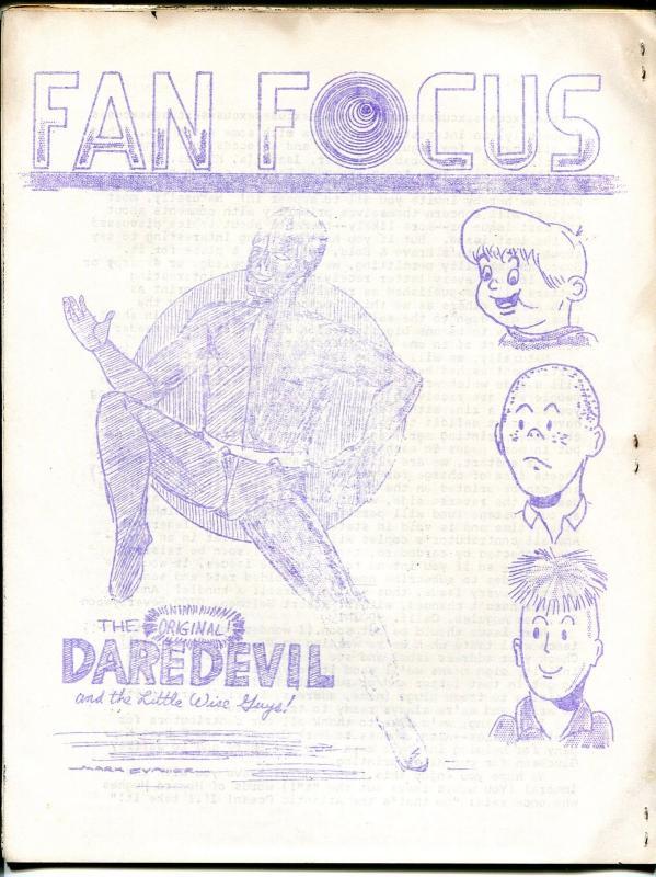 Fan Focus #2 1968-Batman & Robin-Bob Kane LA Comic Book Club-Evanier-FN