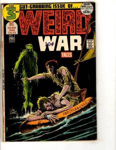 Weird War Tales # 3 VF- DC Comic Book Joe Kubert Air Force Cover Monster JL14