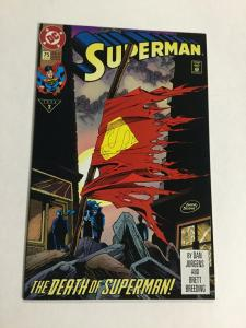 Superman 75 Vf+ Very Fine+ 8.5 Death Of Superman DC Comics