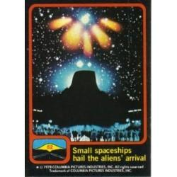 1978 Topps Close Encounters Of The Third Kind SMALL SPACESHIPS HAIL #62