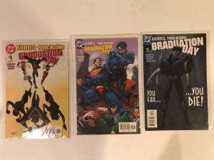 Titans Young Justice Graduation Day 1-3 Complete Near Mint Lot Set Run