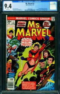 MS. MARVEL #1 First issue-CGC 9.4 Bronze Age Marvel 1998213001