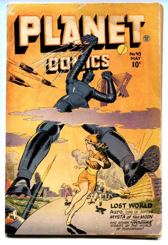Planet #48 -1947-Fiction House-ROBOT COVER-Golden-Age-Comic book