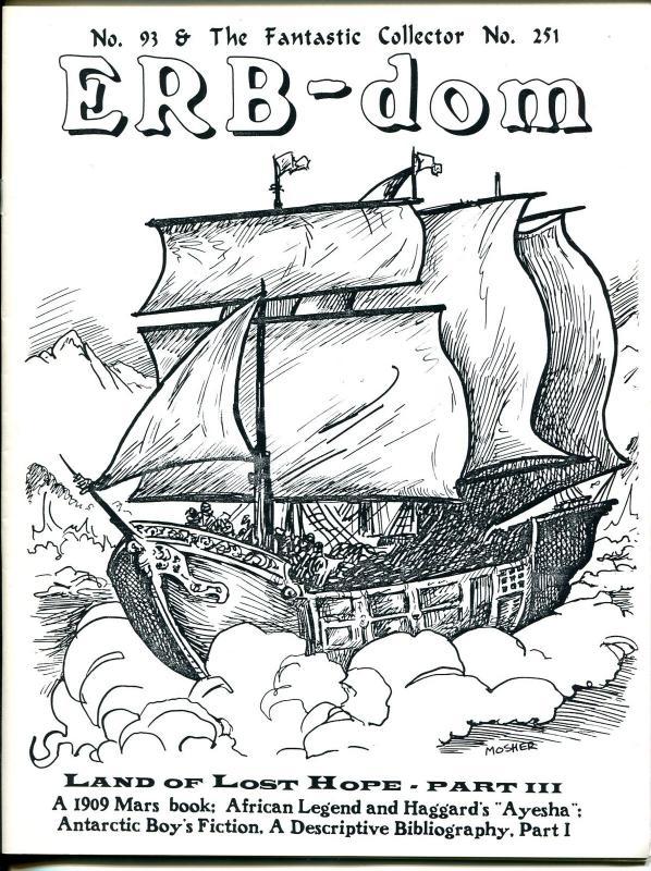 ERB-dom & Fantastic Collector #93 1994-Caz-early pulp story reprints-VF